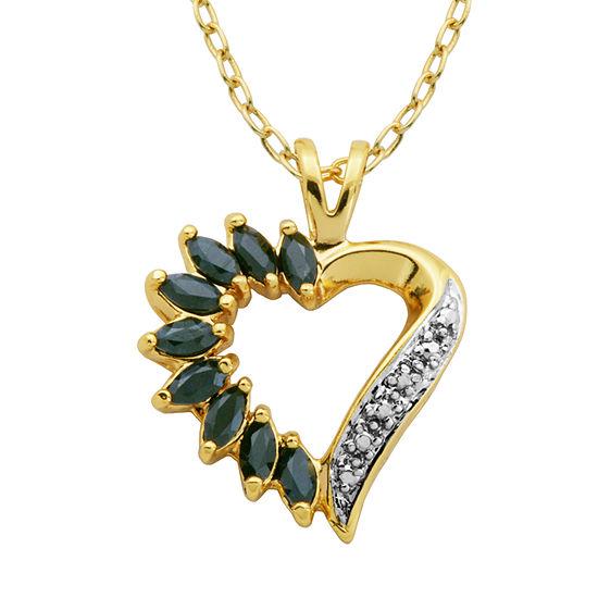 Sparkle Allure White Heart Pendant Necklace