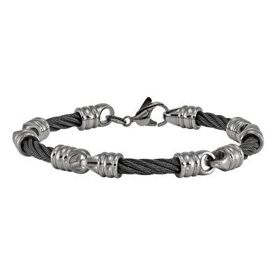 Edward Mirell Titanium 8 Inch Solid Chain Bracelet