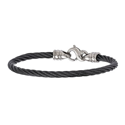 Edward Mirell Titanium 8.5 Inch Solid Cable Chain Bracelet