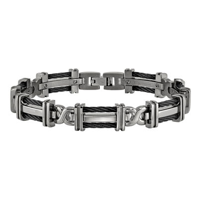 Edward Mirell Titanium 8.25 Inch Solid Cable Link Bracelet