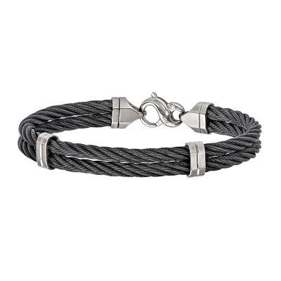 Edward Mirell Titanium 8 Inch Solid Link Bracelet