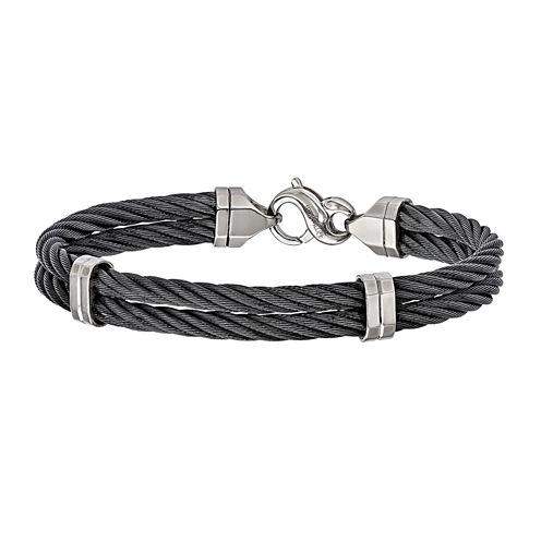 Edward Mirell Mens 8 Inch Titanium Link Bracelet