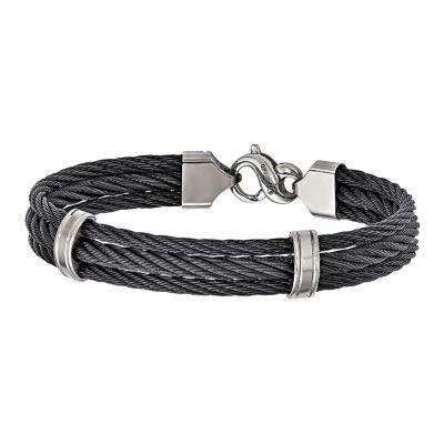 Edward Mirell Titanium 8.5 Inch Solid Link Bracelet