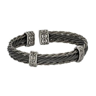 Edward Mirell Black Ti™ Mens Cuff Bracelet Titanium