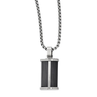 Fine Jewelry Edward Mirell Mens Stainless Steel Titanium Pendant Necklace m7agflx