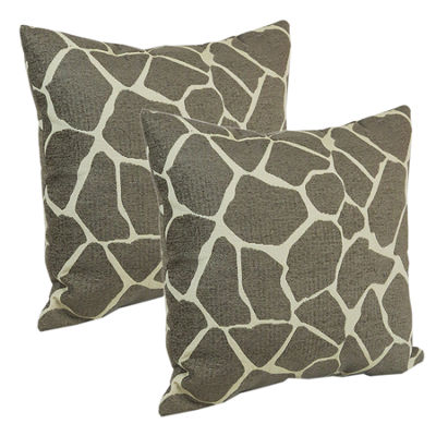 "Klear Vu 18"" Animal Print Decorative Pillows, Set of 2"