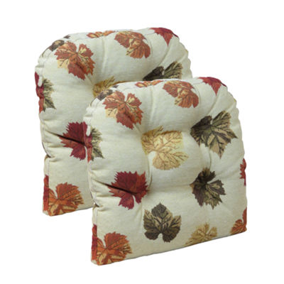 Klear Vu Falling Leaves Universal Chair Pad, Set of 2
