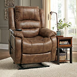 Signature Design by Ashley Yandel Faux Leather Pad-Arm Recliner