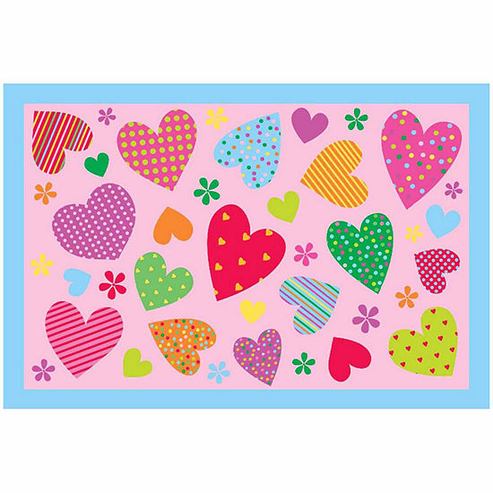 Hearts Rectangular Indoor Rugs