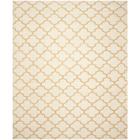 Safavieh Theodore Hand Woven Flat Weave Area Rug, One Size , White at RugsBySize.com