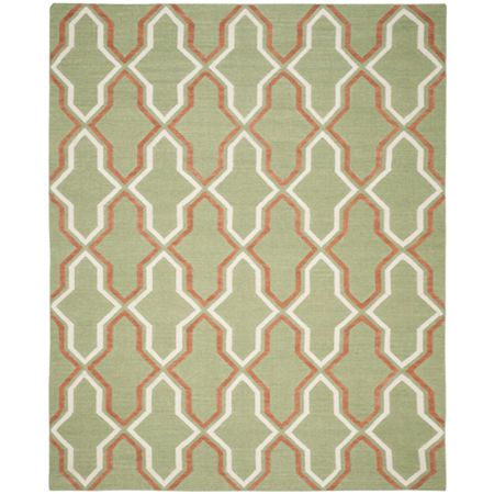 Safavieh Wight Hand Woven Flat Weave Area Rug, One Size , Green at RugsBySize.com