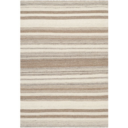 Safavieh Vana Hand Woven Flat Weave Area Rug, One Size , White at RugsBySize.com