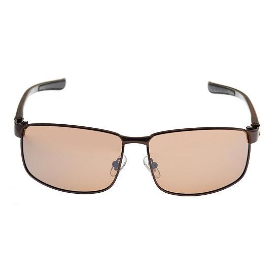 Dockers Mens Full Frame Rectangular Sunglasses