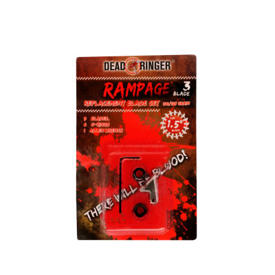 Dead Ringer Replacement Blades - Rampage 3- 100/125 Grains