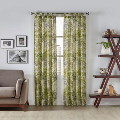 Pairs To Go Marley Tropical 2-Pack Tab-Top Curtain Panel