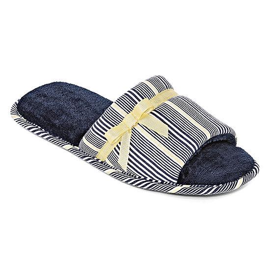 Liz Claiborne Womens Slip-On Slippers