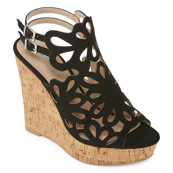 64f0f3bf7163 Style Charles Womens Alaiah Wedge Sandals - JCPenney