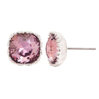 City Rocks Swarovski Pink 12mm Stud Earrings