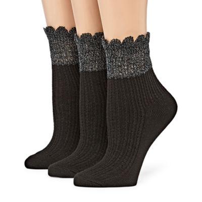 Berkshire Non Binding 3 Pair Ankle Socks - Womens