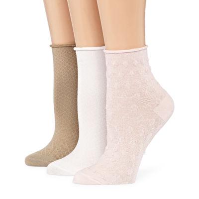 Berkshire Non Binding 3 Pk Ankle Socks - Womens