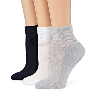 Berkshire Hosiery Diabetic 3 Pair Crew Socks - Womens