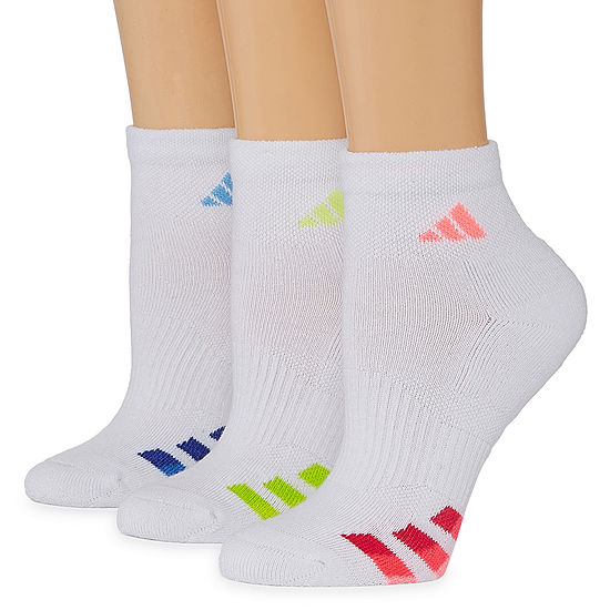 Adidas 3 Pack Cushion Quarter Socks - Womens