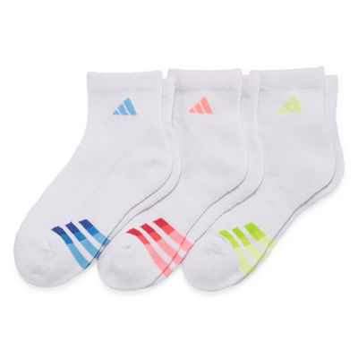 Adidas 3 Pack Cushion Quarter Socks - Womens