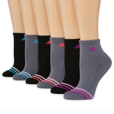 adidas 6 Pair Quarter Socks - Womens