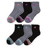 Adidas 6 Pack Cushion Quarter Socks - Womens