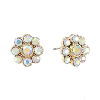 Monet Jewelry White 12mm Stud Earrings