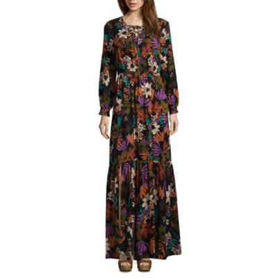 Weslee Rose Long Sleeve Floral Maxi Dress