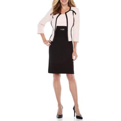 Studio 1 3/4 Sleeve Structured Jacket Dress
