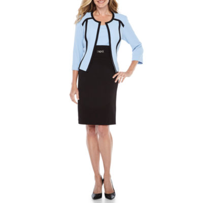 Studio 1 3/4 Sleeve Jacket Dress