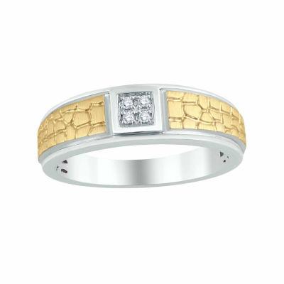 Mens Diamond Accent Genuine Round White Diamond 10K