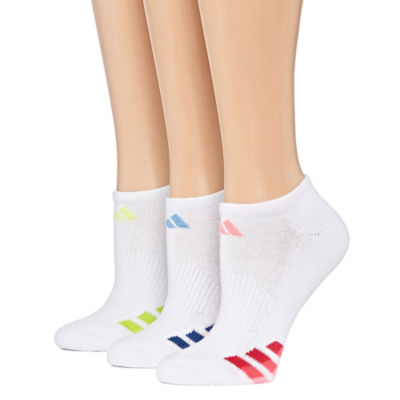 Adidas 3 Pack Cushion No-Show Socks - Womens