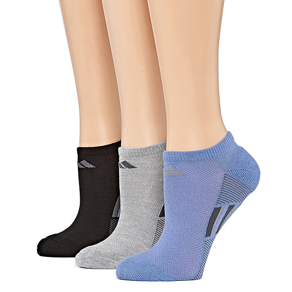 adidas 3 Pair No Show Socks - Womens