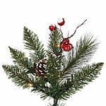 Vickerman 2' Snow Tipped Pine and Berry ArtificialChristmas Tree Unlit