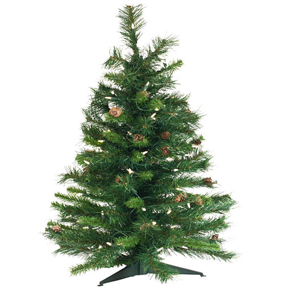 Vickerman 3' Cheyenne Pine Artificial Christmas Tree Unlit - JCPenney