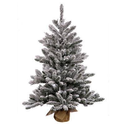 Vickerman Flocked Anoka Pine Artificial ChristmasTree Unlit