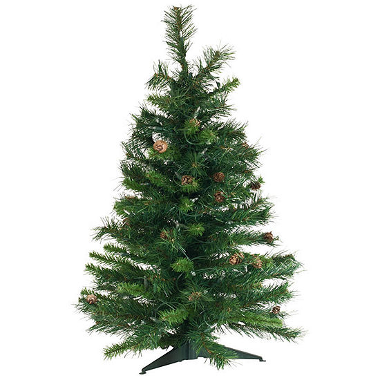Vickerman 3' Cheyenne Pine Artificial Christmas Tree Unlit