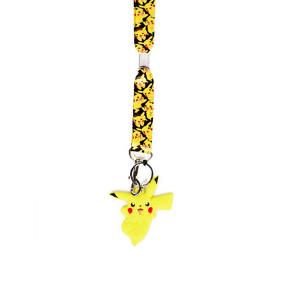 Pokemon Lanyard with Rubber Charm and ID Holder