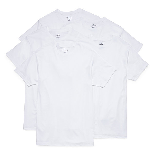 Stafford 5 pc short sleeve crew neck t shirt jcpenney for Stafford white short sleeve dress shirts