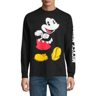 Novelty Season Long Sleeve Mickey Mouse Graphic T-Shirt