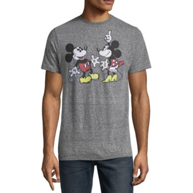 Short Sleeve Mickey Mouse Graphic T-Shirt