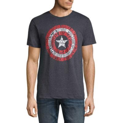 Captain America Typo Graphic Tee