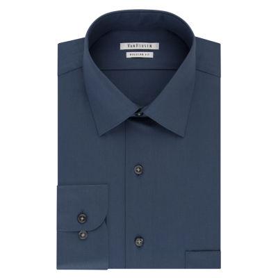 Van Heusen No Iron Lux Big And Tall Long Sleeve Sateen Dress Shirt