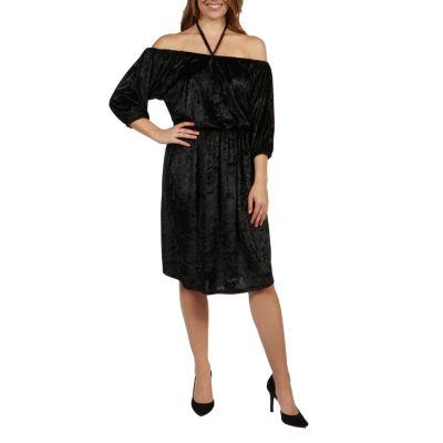 24/7 Comfort Apparel Halter Strap Via Veneto Maternity Dress