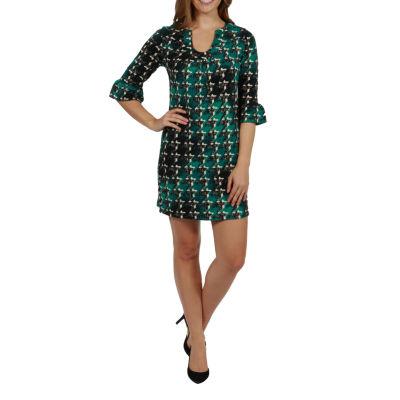 24/7 Comfort Apparel Brooklyn Sweater Knit Maternity Dress