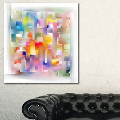 Designart Colorful Seamless Pattern Abstract Canvas Art Print
