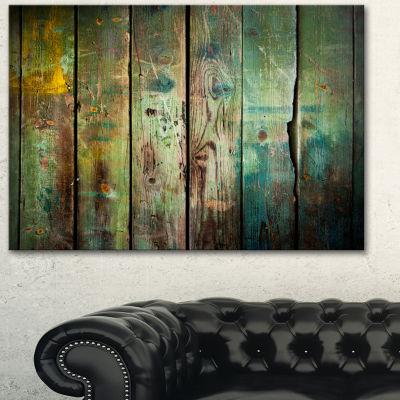 Design Art Old Wood Pattern Contemporary Canvas Art Print